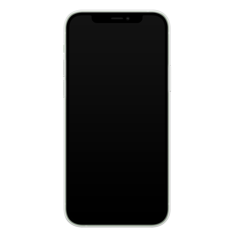 iPhone 12 siliconen hoesje ontwerpen - Terrazzo bruin