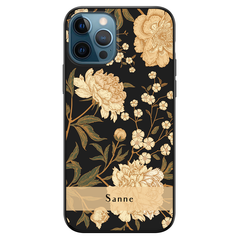 iPhone 12 siliconen hoesje ontwerpen - Golden flowers