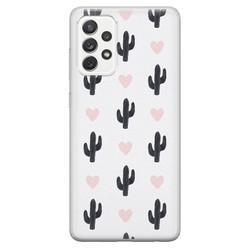 Samsung Galaxy A52 siliconen hoesje - Cactus love