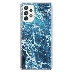 Samsung Galaxy A52 siliconen hoesje - Ocean blue