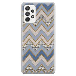 Samsung Galaxy A52 siliconen hoesje - Retro zigzag