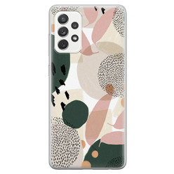 Samsung Galaxy A52 siliconen hoesje - Abstract print