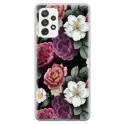 Samsung Galaxy A52 siliconen hoesje - Bloemenliefde