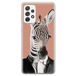 Samsung Galaxy A52 siliconen hoesje - Baby zebra