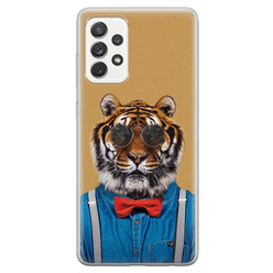 Samsung Galaxy A52 siliconen hoesje - Tijger hipster