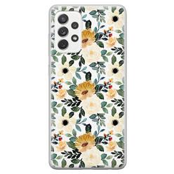 Samsung Galaxy A52 siliconen hoesje - Lovely flower