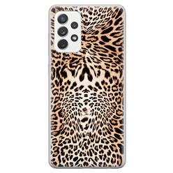 Samsung Galaxy A52 siliconen hoesje - Wild animal