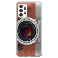 Samsung Galaxy A52 siliconen hoesje - Vintage camera