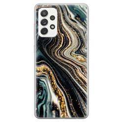 Leuke Telefoonhoesjes Samsung Galaxy A52 siliconen hoesje - Marmer swirl