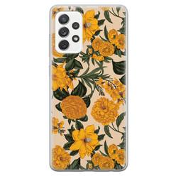 Samsung Galaxy A52 siliconen hoesje - Retro flowers