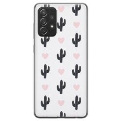 Samsung Galaxy A72 siliconen hoesje - Cactus love