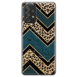Samsung Galaxy A72 siliconen hoesje - Luipaard zigzag