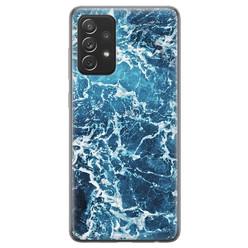 Samsung Galaxy A72 siliconen hoesje - Ocean blue