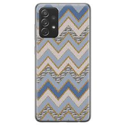 Samsung Galaxy A72 siliconen hoesje - Retro zigzag