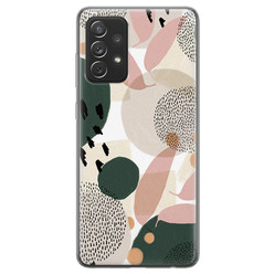 Samsung Galaxy A72 siliconen hoesje - Abstract print