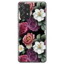 Samsung Galaxy A72 siliconen hoesje - Bloemenliefde