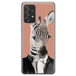 Samsung Galaxy A72 siliconen hoesje - Baby zebra