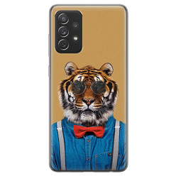 Samsung Galaxy A72 siliconen hoesje - Tijger hipster