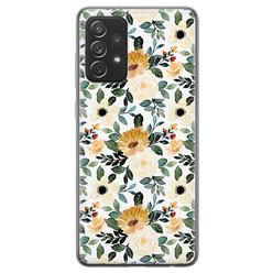 Samsung Galaxy A72 siliconen hoesje - Lovely flower