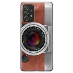 Samsung Galaxy A72 siliconen hoesje - Vintage camera