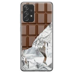 Samsung Galaxy A72 siliconen hoesje - Chocoladereep