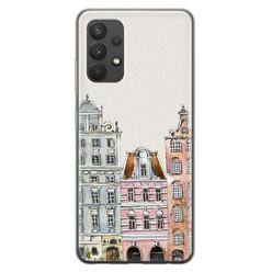 Leuke Telefoonhoesjes Samsung Galaxy A32 4G siliconen hoesje - Grachtenpandjes