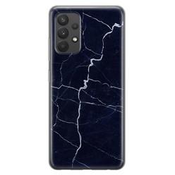 Leuke Telefoonhoesjes Samsung Galaxy A32 4G siliconen hoesje - Marmer navy blauw