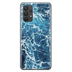 Leuke Telefoonhoesjes Samsung Galaxy A32 4G siliconen hoesje - Ocean blue