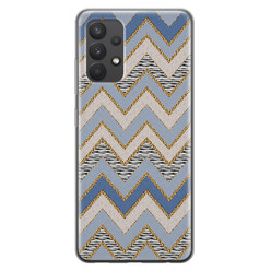 Leuke Telefoonhoesjes Samsung Galaxy A32 4G siliconen hoesje - Retro zigzag