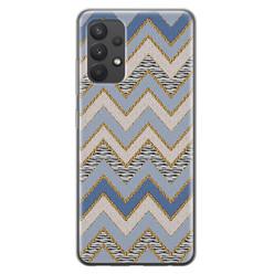 Samsung Galaxy A32 4G siliconen hoesje - Retro zigzag