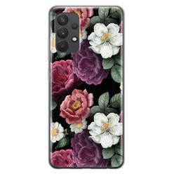 Leuke Telefoonhoesjes Samsung Galaxy A32 4G siliconen hoesje - Bloemenliefde