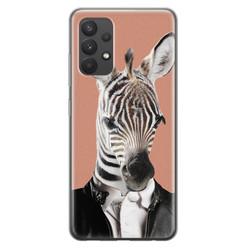 Samsung Galaxy A32 4G siliconen hoesje - Baby zebra