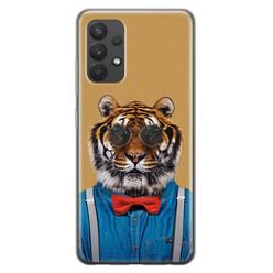 Leuke Telefoonhoesjes Samsung Galaxy A32 4G siliconen hoesje - Tijger hipster