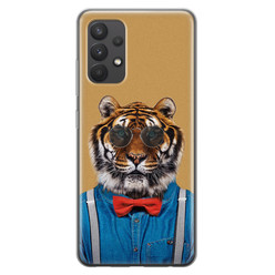 Samsung Galaxy A32 4G siliconen hoesje - Tijger hipster
