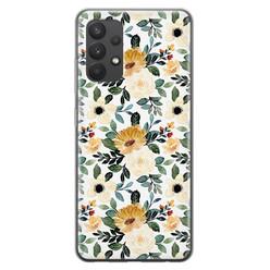 Leuke Telefoonhoesjes Samsung Galaxy A32 4G siliconen hoesje - Lovely flower