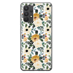 Samsung Galaxy A32 4G siliconen hoesje - Lovely flower