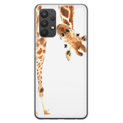 Samsung Galaxy A32 4G siliconen hoesje - Giraffe peekaboo