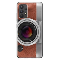 Leuke Telefoonhoesjes Samsung Galaxy A32 4G siliconen hoesje - Vintage camera