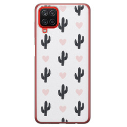 Leuke Telefoonhoesjes Samsung Galaxy A12 siliconen hoesje - Cactus love