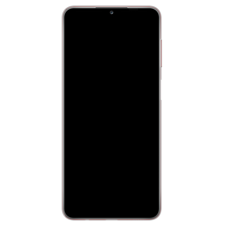 Samsung Galaxy A12 siliconen hoesje - Marmer navy blauw