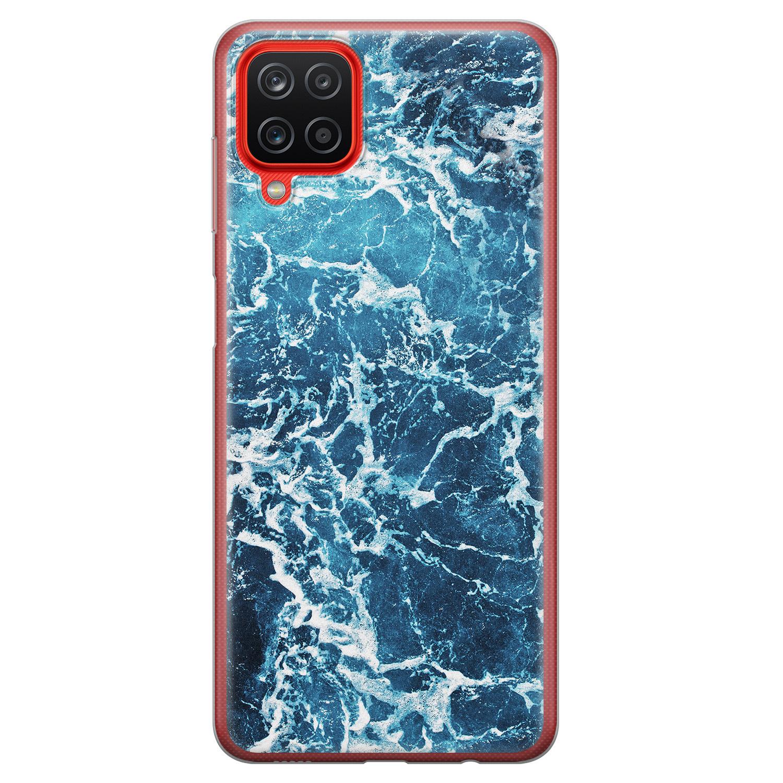 Samsung Galaxy A12 siliconen hoesje - Ocean blue