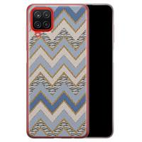 Samsung Galaxy A12 siliconen hoesje - Retro zigzag