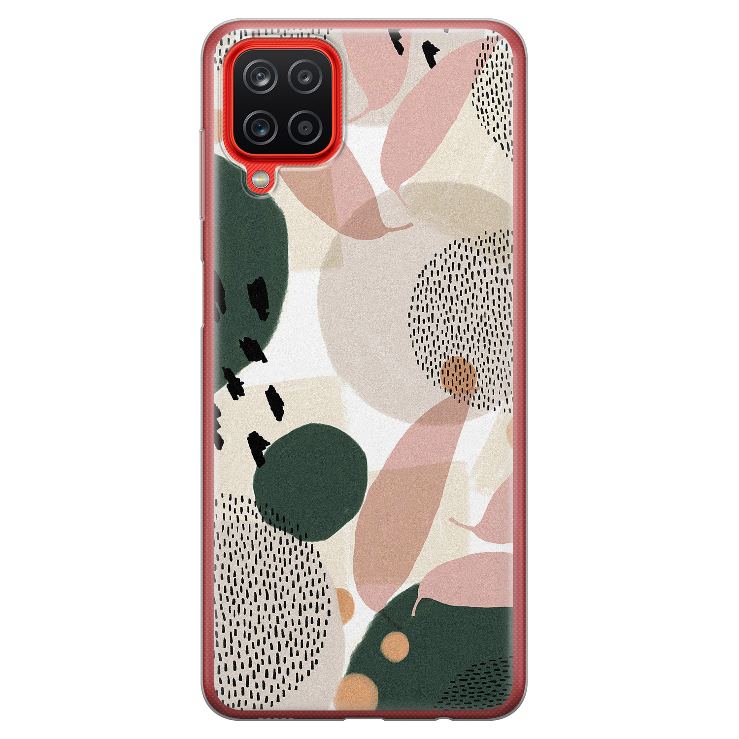 Samsung Galaxy A12 siliconen hoesje - Abstract print