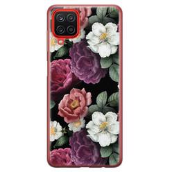 Leuke Telefoonhoesjes Samsung Galaxy A12 siliconen hoesje - Bloemenliefde