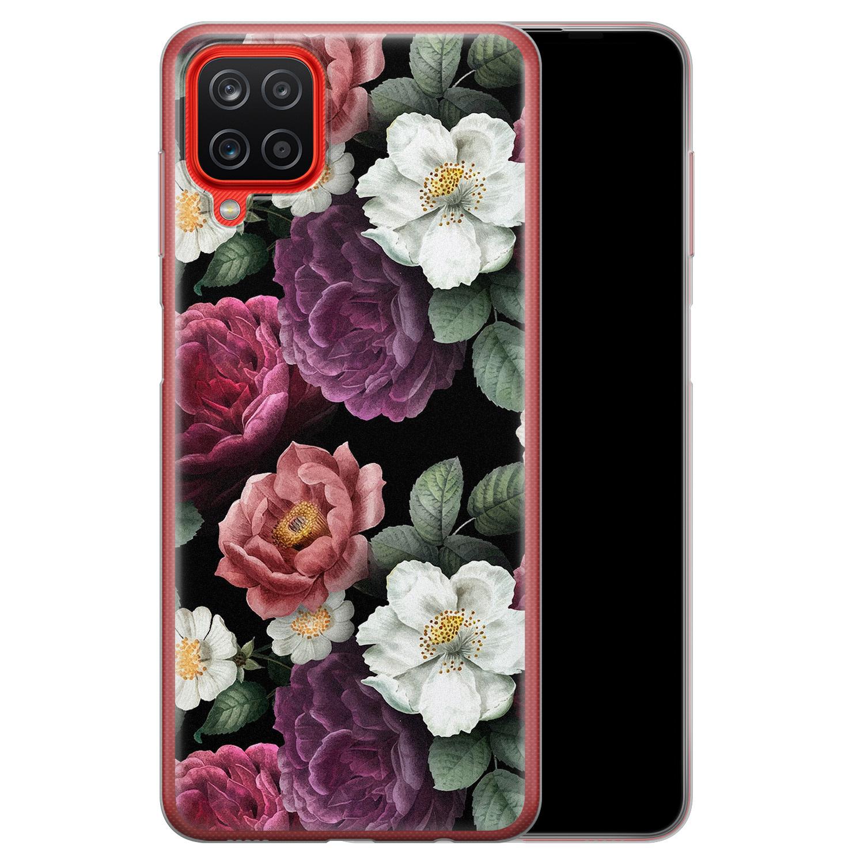 Samsung Galaxy A12 siliconen hoesje - Bloemenliefde