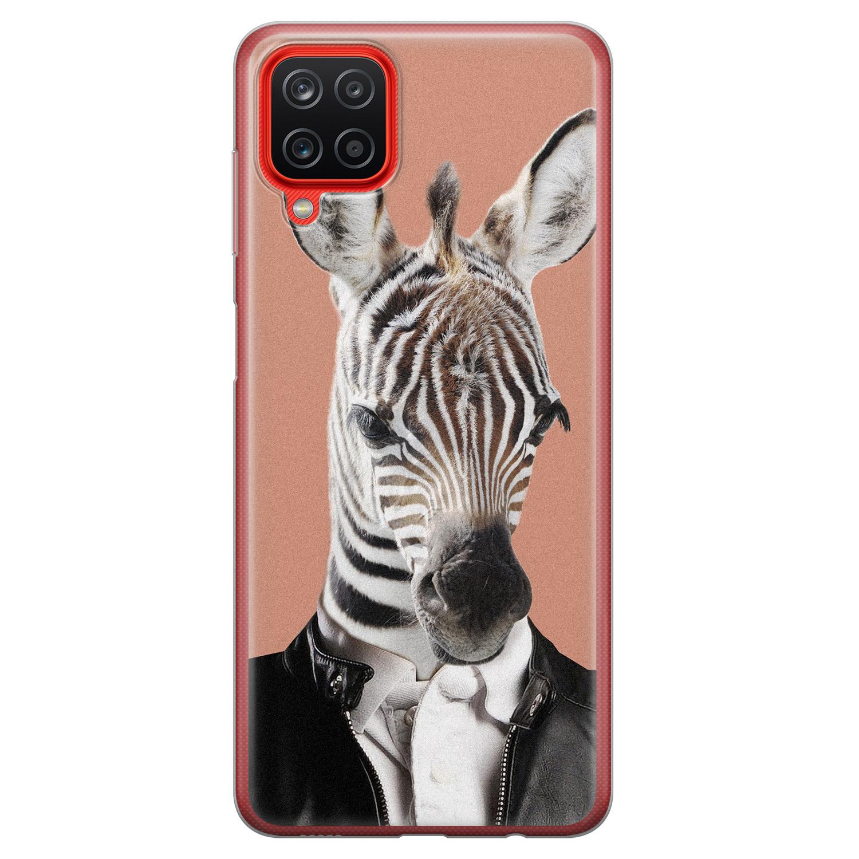 Samsung Galaxy A12 siliconen hoesje - Baby zebra
