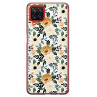 Samsung Galaxy A12 siliconen hoesje - Lovely flower