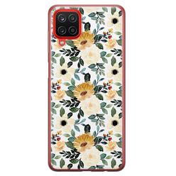 Leuke Telefoonhoesjes Samsung Galaxy A12 siliconen hoesje - Lovely flower
