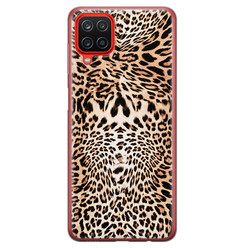 Leuke Telefoonhoesjes Samsung Galaxy A12 siliconen hoesje - Wild animal