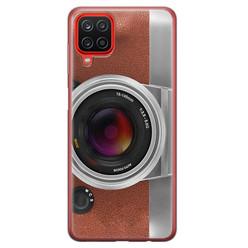 Leuke Telefoonhoesjes Samsung Galaxy A12 siliconen hoesje - Vintage camera